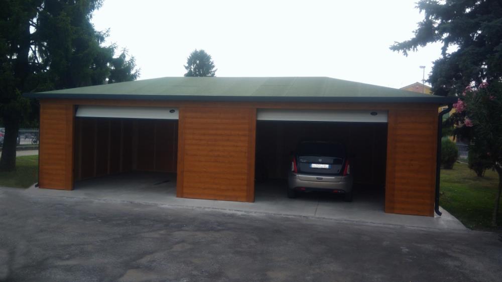 Garage in legno a prezzi for 1 box auto con soppalco