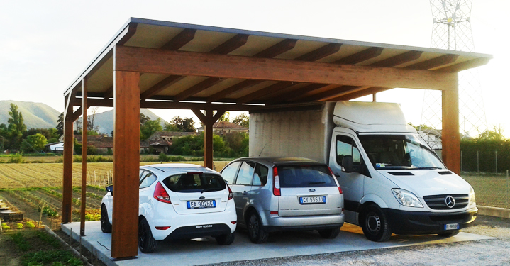 Gazebo casette garage box auto pergole in legno for Gazebo per auto usato