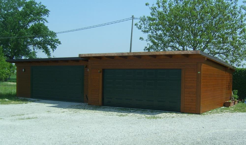Garage in legno woodarchitecture padova for Due box auto