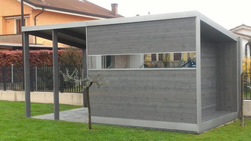 Casetta moderna in legno woodarchitecture padova for Casetta con avvolgente portico