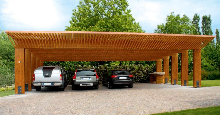 Padova sulle nostre coperture in legno non ci piove for Carport 2 posti